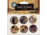 "Vintage Collection Epoxy Stickers 1"" 6/Pkg-Nostalgic 1"
