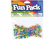 Fun Pack Alphabet Beads-Square Rainbow Mix 85/Pkg 9SIA14P0GH5325
