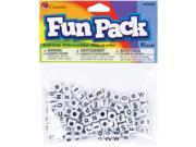 Image of Fun Pack Alphabet Beads-Square White 85/Pkg