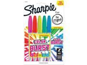 Sharpie Color Burst Fine Point Permanent Markers 5 Pkg Assorted