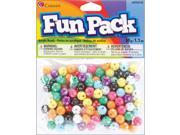 Image of Fun Pack Acrylic Round Beads 1.1oz-Assorted W/Rhinestones