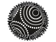 Standard Clearcup Baking Cup-Circle Dots Black 36/Pkg 9SIA75X3EU1902