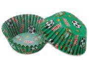 Standard Baking Cups -Soccer 50/Pkg 9SIV01U6Z26020