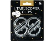 Tablecover Clips 4/Pkg-Clear Plastic