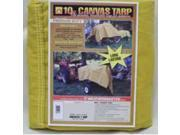 Dize CA1012D 10 ft. X 12 ft. 10-Ounce Canvas Tarp, Tan