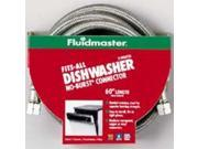 Fluidmaster Inc 1W48CU 3/8x48-inch Fits-All Dishwasher Connector Braided Stainle