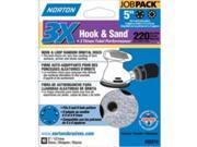 Norton 7660703218 5 X Uh 3X Disc Job-Pack 220 Hook & amp; Loop Universal Vac