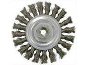 Weiler 36012 4 Inch Knotted Wire Wheel Brush