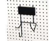 Black Reciprocating Saw Hook SOUTHERN IMPERIAL INC Pegboard Hooks - Store Use