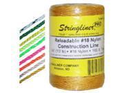 Stringliner 35765 #18 Braided Nylon Twine, Yellow - 1000-Ft.