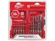 Set Bit Drl 10Pc 1/8-3/8In Stl MILWAUKEE ELECTRIC Hex Shank Drill Bit Sets Steel