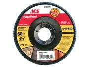 """Flap Wheel 4-1/2""""""""X7/8"""""""" ACE Grinding Cups and Wheels 9716-002 082901242802"""" 9SIA14R2GS2715"""