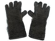 Medieval Costume Gauntlet Gloves - Steel Chainmail and Leather Armor 9SIA14T0A34885