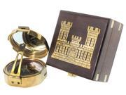 "3"" Brunton Style Compass w/ Castle Box - Army Engineer"