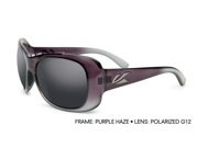 Kaenon Women's Polarized Eden Sunglasses 010-09-G12 Puple Haze W/Case
