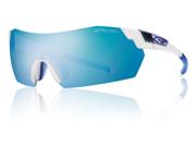 Smith Optics Pivlock V2 Matte Clear Sunglasses W/Blue Mirror Photo Ignitor Clear