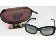 Maui Jim Sunglasses Lani Gloss Black Polarized Neutral Grey GS239-02 with Case