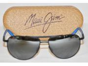 Maui Jim Sunglasses Leeward Coast Matte Black W/ Blue Polarized Lens Plus Case 9SIA79560U5826