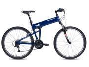 """2016 Montague Paratrooper Express 16"""" Gloss Blue 18 Speed Folding Mountain Bike"""