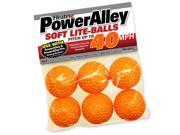 6 Pack Trend Sports Heater PowerAlley 40 MPH Orange Lite Baseballs HSO14