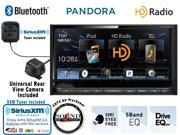 "Kenwood DDX672BH 6.95"" In Dash Double Din DVD Receiver with Built in Bluetooth, HD Radio, CMOS-220 Backup Camera with SiriusXM Tuner and Antenna and a FREE SOTS Air Freshener"