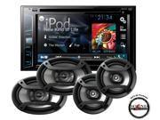 "Pioneer AVH-X2700BS DVD 6.2"" Receiver w/ 6x9"" TS-695P & 6.5"" Speakers TS-165P"