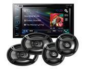 "Pioneer AVH-270BT DVD 6.2"" Receiver w/ 6x9"" TS-695P & 6.5"" Speakers TS-165P"