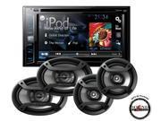 "Pioneer AVH-X1700S DVD 6.2"" Receiver w/ 6x9"" TS-695P & 6.5"" Speakers TS-165P"