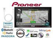 "Pioneer AVIC-8100NEX 7"" DVD GPS Navigation Receiver w/ Lightning to USB Adapter"