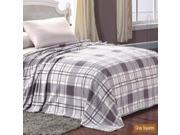 Microplush Printed Blanket Gray Squares