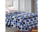 Microplush Printed Blanket Blue Squares