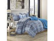 Lynwood Motif Blues 10 Piece Comforter Bed In A Bag Set