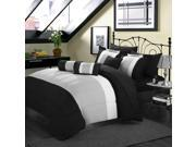Serenity Black & Grey 10 Piece Comforter Bed In A Bag Set