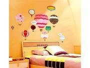 Reusable Decorative Wall Sticker Decal - Hot Air Balloon Themed