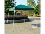 Outsunny 8' x 8' Slant Leg Easy Pop-Up Canopy Party Tent - Dark Green