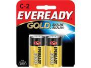 Eveready C Cell Alkaline Battery Retail Pack - 2-Pack