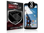 Skque® Anti Scratch Screen Protector for Google Nexus 6, 3 Pack