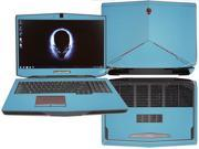 "Decalrus  - Alienware 17 (Released 2013) with 17"" screen FULL BODY  Sky BLUE Texture Carbon Fiber skin skins decal for case cover wrap CF13Alien17SkyBlue"