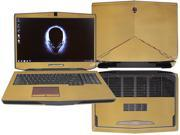 "Decalrus  - Alienware 17 (Released 2013) with 17"" screen FULL BODY  GOLD Texture Carbon Fiber skin skins decal for case cover wrap CF13Alien17Gold"