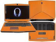"Decalrus  - Alienware 17 (Released 2013) with 17"" screen FULL BODY  ORANGE Texture Carbon Fiber skin skins decal for case cover wrap CF13Alien17Orange"