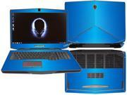 "Decalrus  - Alienware 17 (Released 2013) with 17"" screen FULL BODY  LITE BLUE Texture Brushed Aluminum skin skins decal for case cover wrap BA13Alien17LiteBlue"