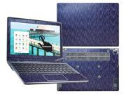 "Decalrus  - Acer C720P ""P"" Chromebook with 11.6"" TOUCHSCREEN Full Body BLUE Chameleon Mosaic pattern Blue to Purple texture skin skins decal for case cover wrap MOSfbC720PBlue"