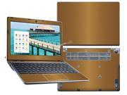 """Decalrus  - Acer C720 Chromebook with 11.6"""" Screen Full Body GOLD Texture Brushed Aluminum skin skins decal for case cover wrap BAacerFBdyC720Gold"""