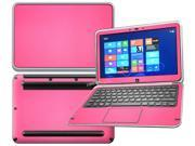 """Decalrus  - Dell XPS 12 with 12"""" Screen Full Body Hot PINK Texture Carbon Fiber skin skins decal for case cover wrap CFDellXPS12HotPink"""