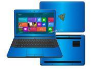 """Decalrus  - Razer Blade RZ09 14  with 14"""" screen Full Body  LITE BLUE Texture Brushed Aluminum skin skins decal for case cover wrap BAfbrzrblade14LiteBlue"""