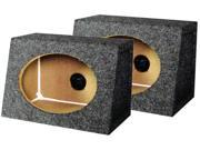 "New Pair Q-Power Qtw6x9 Angled Style 6X9"" Speaker Enclosures"