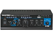 Pyle PTAU45 Mini 2x120 Watt Stereo Power Amplifier with USB CD AUX Inputs