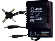 NEW NIPPON DV1000 AC/DC 1000mA POWER ADAPTER 6 WAY UNIVERSAL PLUG 9SIA0ZX2C40231