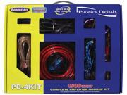 New 4 Gauge 1500W Amp Installation Car Wiring Kit W/ Rca