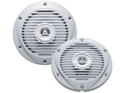 "Kenwood Kfc-1652Mrw 6-1/2"" 2-Way 300W Marine Speaker - Pair - White"